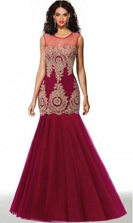 fabulous lace applique floor length tulle mermaid prom formal evening dress