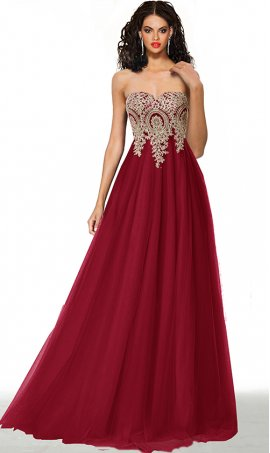 stunning beaded lace applique empire wast stapless sweetheart a line tulle ball gown prom dress