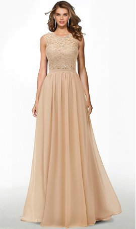 chic lace bodice high neck floor length chiffon prom formal evening pageant bridesmaid gown dress
