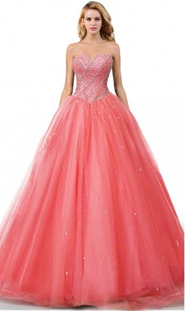 dazzling beaded sharp sweetheart tulle ball prom formal evening pageant ball quinceanera gown dress