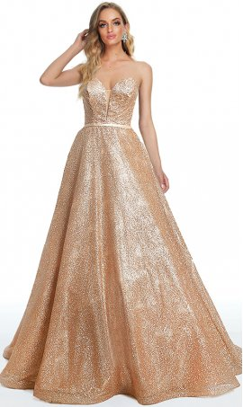 sparkling printed glitter strapless sweetheart a line ball gown prom formal evening dress