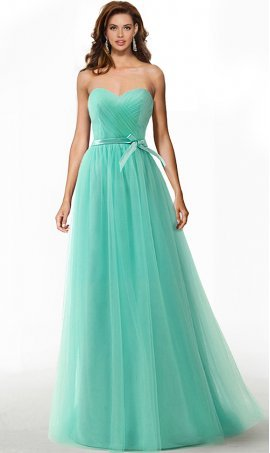 spectacular strapless sweetheart a line tulle prom formal evening bridesmaid gown dress