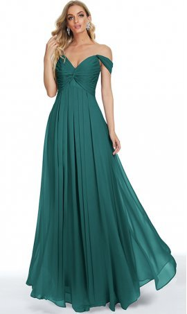 glamorous off the shoulder sweetheart a line chiffon prom formal evening bridesmaid dress