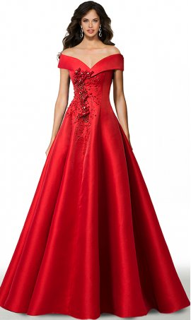 gorgeous off the shoulder embellished a line satin ball prom formal evening pageant gown dress