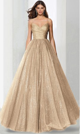 Charming v neck ruched a line floor length glitter tulle ball Dress Gown prom formal evening pageant Dress Gown