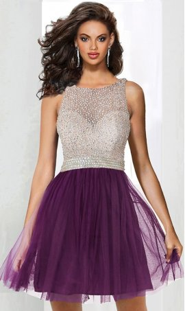 Chic sparkly beaded bodice a line tulle short homecoming prom cocktail party graduation hoco Dress Gown