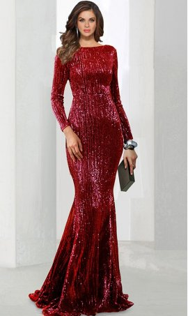Chic Off the shoulder sequins sleeveless floor length mermaid formal Dress Gown