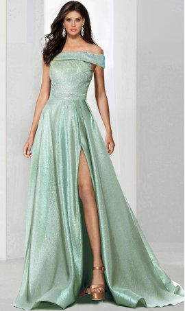 Fabulous off the shoulder a line glitter ball Dress Gown prom formal evening Dress Gown