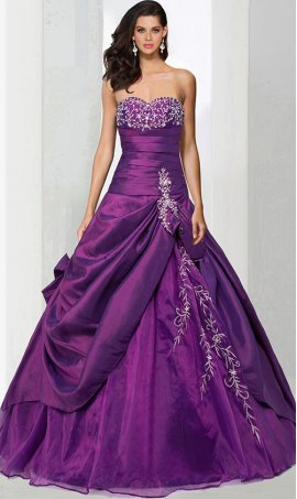 Chic Sweetheart Neckline taffeta sleeveless beaded lace applique floor length ball Dress Gown prom quinceanera Dress Gown