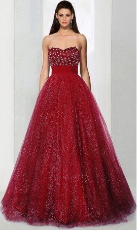 Chic Sweetheart neckline sequin tulle sleeveless floor length beaded ball Dress Gown prom quinceanera Dress Gown