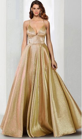 Charming v-neck lace-up back a line metallic glitter ball Dress Gown prom formal evening Dress Gown