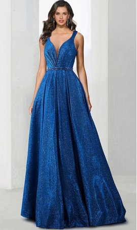 Chic irresistible beaded v neck metallic glitter a line ball Dress Gown prom formal evening Dress Gown