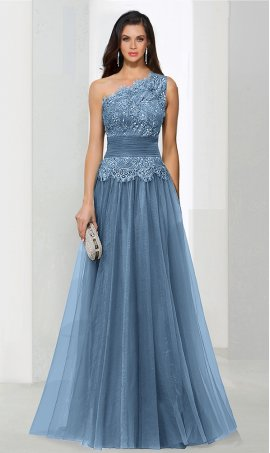 dramaticbeaded lace applique one shoulder floor length tulle ball Dress Gown prom formal evening Dress Gown