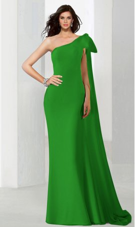 Flawless single one shoulder floor length jersey mermaid prom formal evening Dress Gown