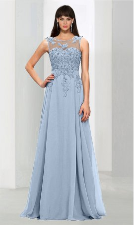 dramaticsheer high neck beaded lace applique a line chiffon bridesmaid prom formal evening Dress Gown