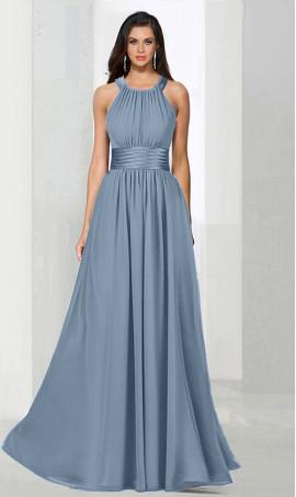 Flawless halter halter floor length a line chiffon bridesmaid prom formal evening Dress Gown