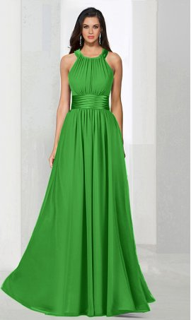 Flawless halter halter floor length a line chiffon bridesmaid prom formal evening Dress Gown