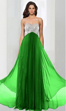 Chic unique cut out back chiffon overlay sequin prom formal evening pageant Dress Gown