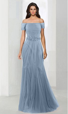Chic fablous floral applique off the shoulder short sleeves tulle mermaid prom formal evening Dress Gown