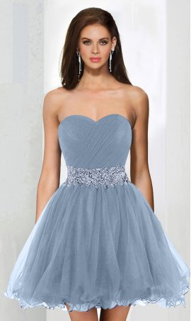Chic flirty beaded strapless sweetheart short tulle cocktail homecoming Dress Gown