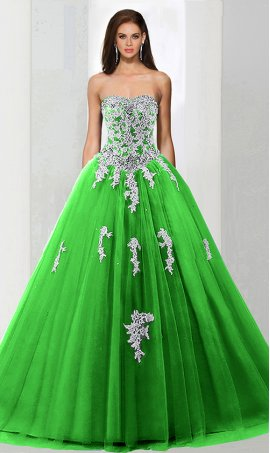 Chic beaded lace applique strapless sweetheart a line tull quinceanera ball Dress Gown prom formal eveing Dress Gown