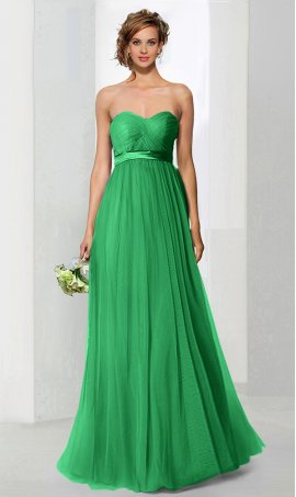 Chic convertible floor length soft tulle formal prom formal evening bridesmaids Dress Gown