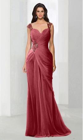 dramaticbeaded sweetheart draped chiffon mermaid formal evening Dress Gown