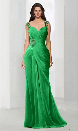 dramaticbeaded sweetheart draped chiffon mermaid formal evening Dress Gown