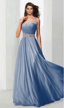 elegant rhinestone embellished a line beaded floor length chiffon prom formal evening Dress Gown