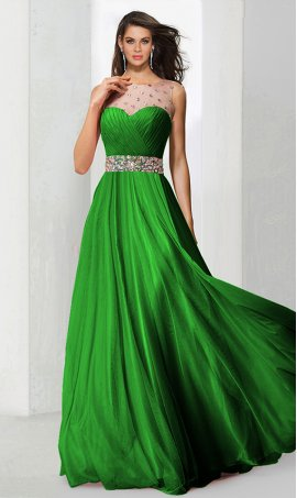 elegant rhinestone embellished a line beaded floor length chiffon prom formal evening Dress Gown