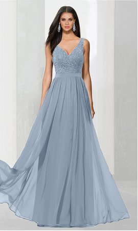 dramaticv neck beaded lace applique floor length chiffon prom formal evening Dress Gown
