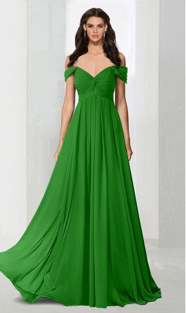 Flawless off the shoulder sweetheart a line chiffon bridesmaid prom formal evening Dress Gown