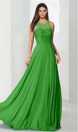 dramaticlace bodice high neck a line chiffon bridesmaid prom formal evening Dress Gown