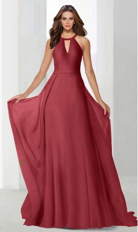 Flawless chocker high neck cape skirt chiffon bridesmaid prom formal evening Dress Gown