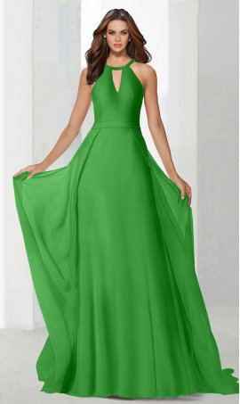 Flawless chocker high neck cape skirt chiffon bridesmaid prom formal evening Dress Gown