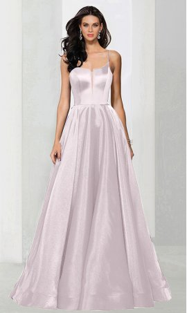 Flawless sheer nude inserted high neck a line satin ball Dress Gown prom formal evening Dress Gown