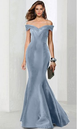 Flawless off the shoulder floor length satin mermaid prom formal evening Dress Gown