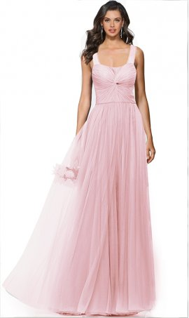 elegant ruched sweetheart floor length a line tulle bridesmaid prom formal evening Dress Gown