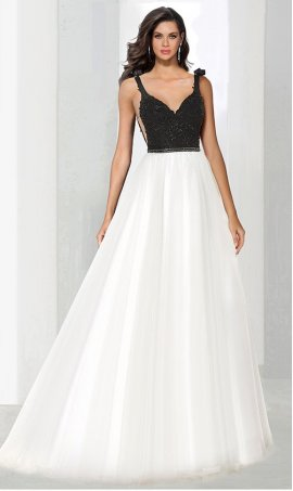 Chic classic beaded bodice a line black white open back two tone color block ball Dress Gown prom formal evening Dress Gown