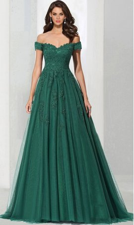 Chic sophisticated lace applique off the shoulder sweetheart a line tulle ball Dress Gown prom formal evening Dress Gown