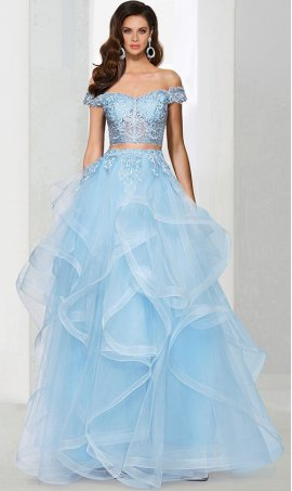 Chic stunning off the shoulder cap sleeve lace applique sheer illusion two piece ball prom formal evening pageant Dress Gown