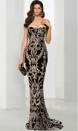 Chic Sweetheart neckline patternedly sequins floor length mermaid formal Dress Gown
