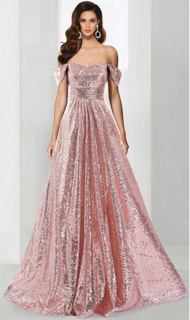 Chic Off the shoulder sequins cap sleeve floor length ball Dress Gown Prom Formal Evening Dress Gown