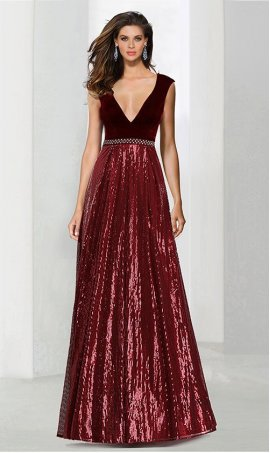 Chic beaded plunging v neck cap sleeves a line velvet sequin prom formal evening Dress Gown es
