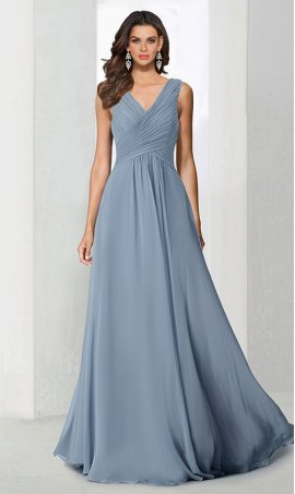 dramaticv neck ruched floor length a line chiffon bridesmaid prom formal evening Dress Gown