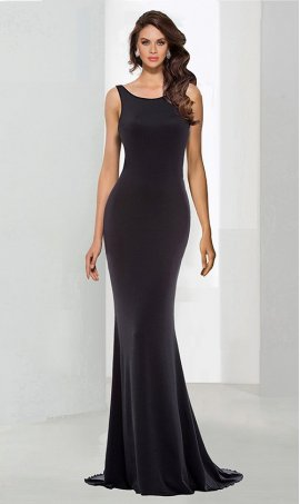 Flawless mermaid square neck jersey satin Ruffle floor length Dress Gown