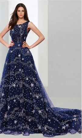 Chic Flirty a-line square neck floor-length sequined beaded sleeveless Prom Formal Evening Dress Gown