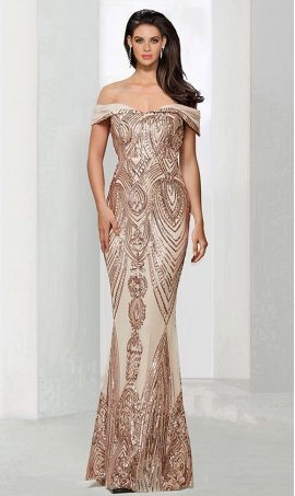 Chic Mermaid off the shoulder partternedly sequined beaded lace applique sleeveless zipper back Dress Gown