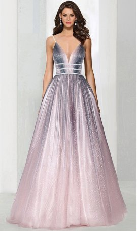 Flawless beaded tripple waist ombre glitter mesh tulle ball Dress Gown prom formal evening quinceanera Dress Gown