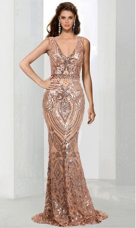 Chic V Neck sequins sleeveless floor length mermaid ball Dress Gown Prom Formal Evening Dress Gown